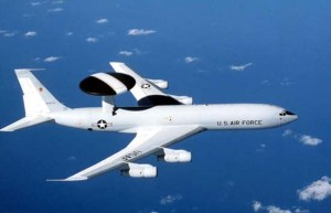 The E-3 Sentry AWACS surveillance, command, control and communications flew over Iraq 24 hrs per day