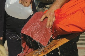 BW waterboarding