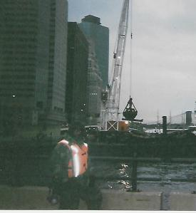 True_George at NYC Water front On Last Day of The Mission